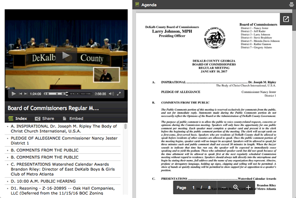 Watch the DeKalb County Board of Commissioners meetings live on DCTV Channel 23
