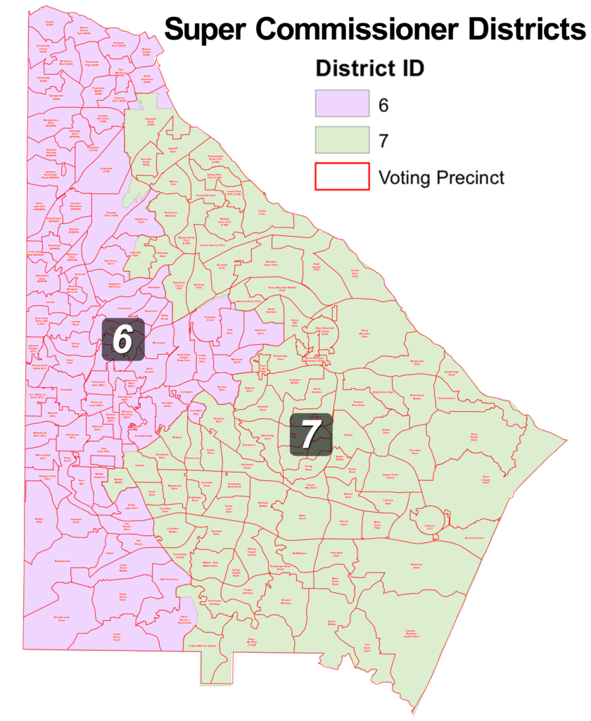 DeKalb County Commissioner Super District Map