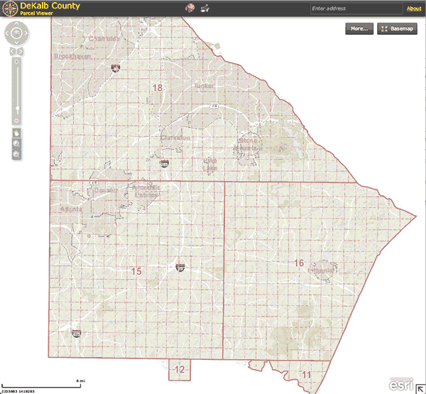 DeKalb County GIS Map